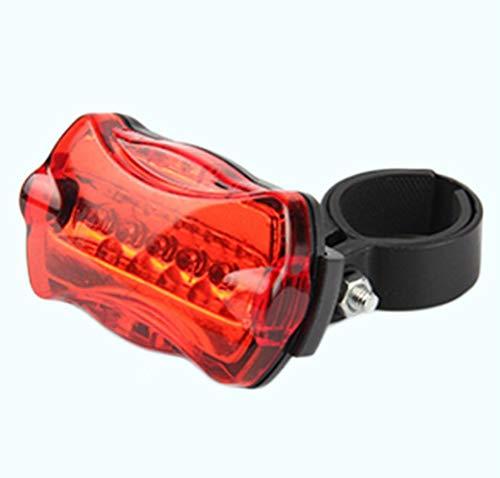 WANLIU 1PC Fahrrad hinten Sicherheit 5Led Licht-Fahrrad Schwanz hinten Warnung Blitzlicht-Lampe Rot mit dem Berg Fahrradzubehör,B