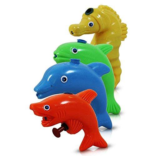 12 x HC-Handel 910627 Wasserpistole Meerestier 9,5 cm verschiedene Tiere und Farben