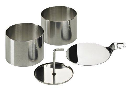 Lurch 220285 Speiseringe EDS 8teilig: 6 Ringe Durchmesser 7,5 cm x H 5,5 cm, 1 Stampfer, 1 Tablett aus Edelstahl