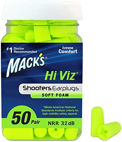 Mack s Hi Viz Soft Foam Shooting Earplugs Most Visible Color Easy Compliance Checks 32dB High product image