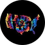 TIRE COVER CENTRAL Word Art Made in The USA Map Tie Dye Spare Tire Cover (Select tire Size/Back up Camera Option in MENU) Custom Sized to Any Make/Model 225/75R16