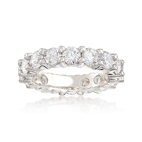 Ross-Simons 3.60 ct. t.w. CZ Eternity Band in Sterling Silver