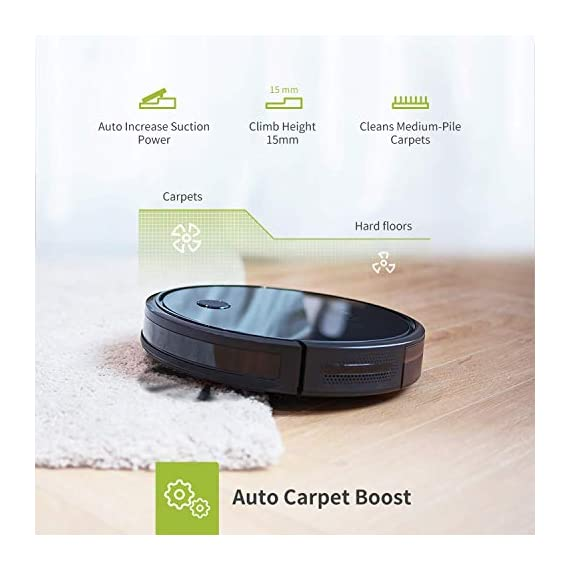 Kyvol cybovac e20 robot vacuum cleaner, 2000pa suction, 150 min runtime, boundary strips included, quiet, super-thin… 2 powerful suction & ultra-thin: 2000pa strong suction power, are suitable for hard floors to medium-pile carpets. Special design for daily cleaning, cybovac e20 can easily clean various dust, hairs, and cat litter from your room, carpet, and under furniture. Kyvol robotic vacuum cleaner has a slim 2. 85-inch body. It's thin enough to reach every corner of a house or narrow space, clean leftover dirty areas, and keep your house neat 150 min runtime & self-charging: this automatic vacuum cleaner robot has a high capacity lithium-ion battery of 3200mah and a charging base. It could continuously work about 150 minutes(max) to meet the cleaning needs from the living room to the bedroom. When the battery is low(light turns to orange), it will automatically return to the charging base smart app & voice control: you can easily create a cleaning schedule, change the cleaning mode, and control the cleaning direction by using the kyvol app. The auto vacuum cleaner robot is also compatible with alexa and google assistant, allowing users to let the robot start and stop the cleaning by voice commands. Use robots to save you time and energy