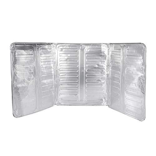 BESTOMZ Oil Splash Guard Aluminum Foil Gas Stove Shield Oil Splatter Screen Kitchen Tool (33.1x12.8 inch)