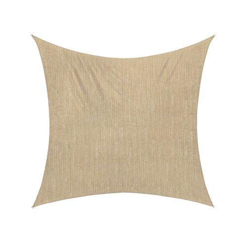 jarolift Sonnensegel Quadrat atmungsaktiv, 360 x 360 cm, Sand