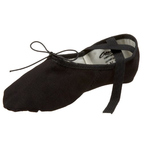 Capezio womens Canvas Juliet dance shoes, Black, 10.5 US