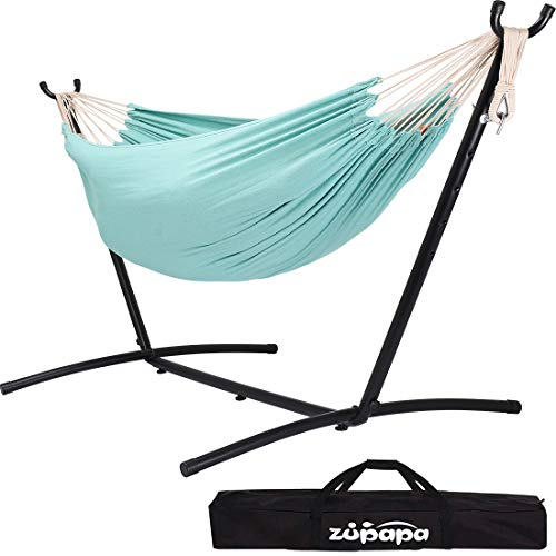 Zupapa Double Hammock with Stand and Carrying...