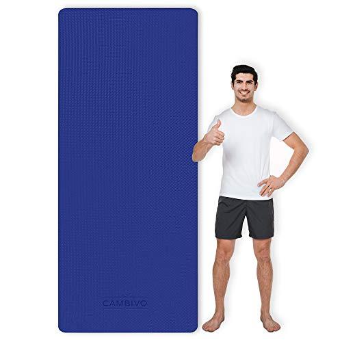CAMBIVO Esterilla Yoga, Colchoneta Gimnasia 213 x 81 x 0,6 cm, Esterillas para Deporte en Casa Mat Antideslizante Extra Larga con Correa para Fitness, Entrenamiento, Pilates, Gym