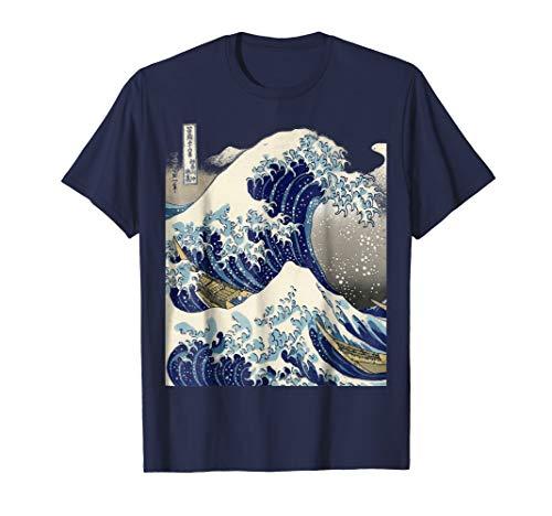 vintage Japanese tattoo art kanagawa the great wave t shirt