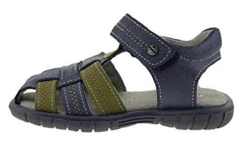Minibel , Sandales pour fille Bleu Marine Kaki - - Marine Kaki, 24.0