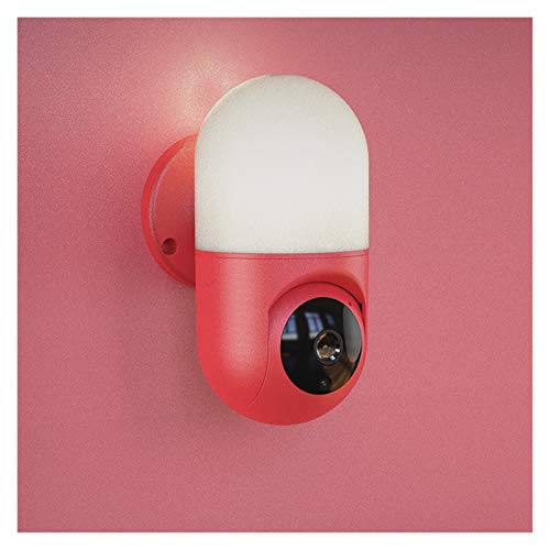 Smart Bulb Kamera Wandlampe Nachtsicht Wireless WiFi Handy Fernbedienung 360 Grad Panorama-Sicherheitsüberwachung Pulley (Farbe: Rot)