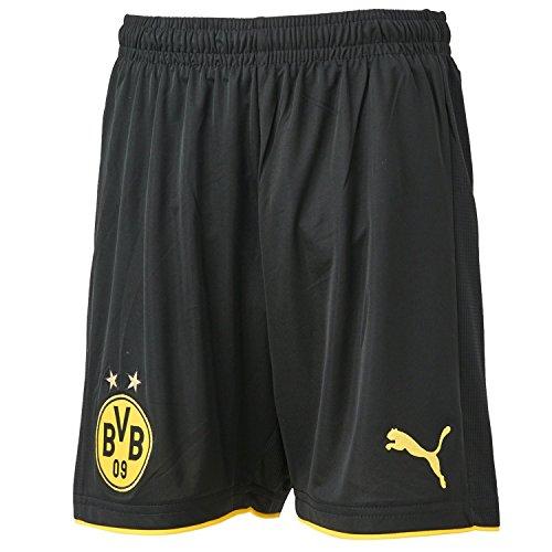 PUMA Kinder Hose BVB Replica Shorts, black-Cyber yellow, 176