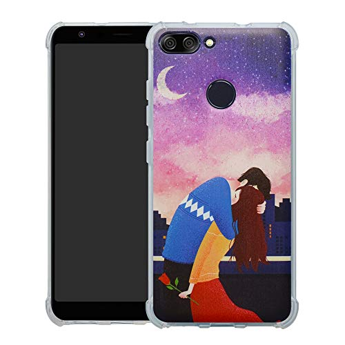 HHDY Asus Zenfone Max Plus (M1) Hülle, Painted Muster Weich Superdünne TPU Silikon Bumper Handyhülle Hülle für Asus Zenfone Max Plus (M1) ZB570TL,Lover