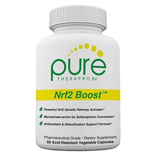Nrf2 Boost - 60 Veggie Capsules | Oxidative Stress Formula | NRF-2 Activator with Sulforaphane | Contains: truebroc, Curcumin, Green Tea (EGCG), Trans-Pterostilbene (Silbinol), Myrosinase & BioPerine