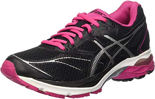 Asics Gel-Pulse 8 W, Damen Laufschuhe, Mehrfarbig (Black/Silver/Sport Pink), 37 EU