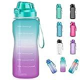 4AMinLA Motivational Water Bottle 2.2L/64oz Half Gallon Jug with...