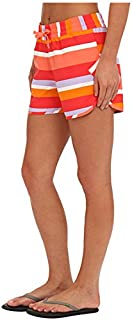 Columbia Sportswear Women's Cool Coast Shorts, Hot Coral Multi Stripe, X-Small