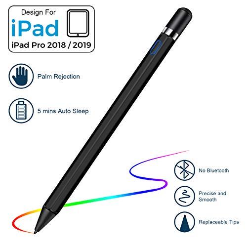 VIFLYKOO Stylus Stift, Stylus Pen mit Palm Rejection für iPad 2018 & 2019, USB Wiederaufladbar Active Stylus Digital Stift mit 1.2 mm Feiner Spitze für Schreiben und Zeichnen für iPad Pro 11/12.9/Air3