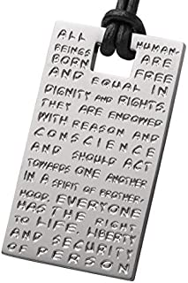 GILARDY Human Rights Pendant P2 Stainless Steel Engraving Human Rights