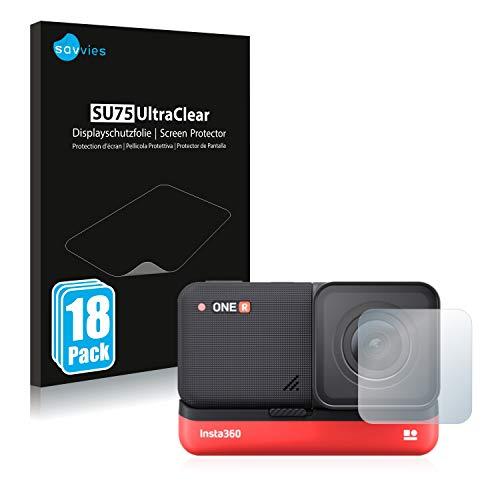 savvies Protector Pantalla Compatible con Insta360 One R 4K Edition 4K Weitwinkel-Mod (Lente) (18 Unidades) Pelicula Ultra Transparente