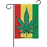wallxxj Fahne Marihuana-Partei-Feiertags-Flaggen-Außendekoration-Doppelseitiger Hausgarten-Flaggen-St Patrick Tag