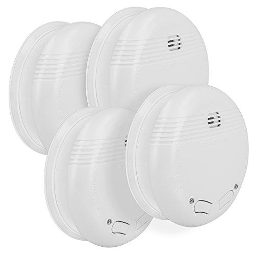 mumbi RMF150 Funkrauchmelder: 4 x Funk Rauchmelder / Feuermelder geprüft nach DIN EN 14604 - verlinkbar vernetzbar koppelbar