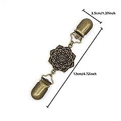 CAREOR Vintage Cardigan Sweater Pin Shawl Brooch Clips Shirt Dress Collar Duck Clip for Elegant Women #1