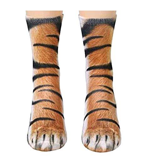 MeiPing Socken Frauen Mann Erwachsene Unisex Tierpfote Crew Socken Sublimiert 3D Print