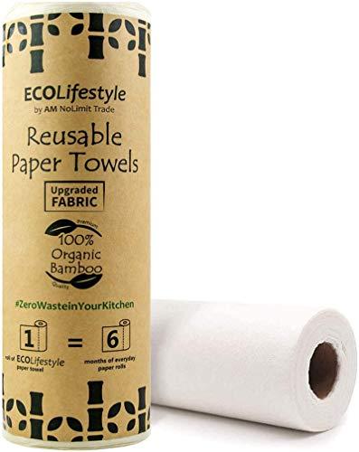 Bamboo Paper Towels Reusable Paper Towels Washable Roll Unpaper Towel...