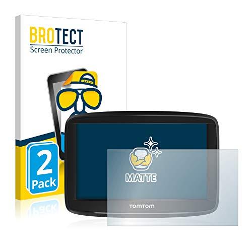 BROTECT Protector Pantalla Anti-Reflejos Compatible con Tomtom Start 52 (2 Unidades) Pelicula Mate Anti-Huellas