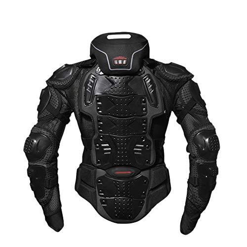 YOUCAI Chaqueta Moto Unisex Adulto Chaqueta de Protección Para Motocross Motos Ropa Protectora de Cuerpo Armadura Para Verano Primavera Otoño Toda Estaciòn,Negro,M