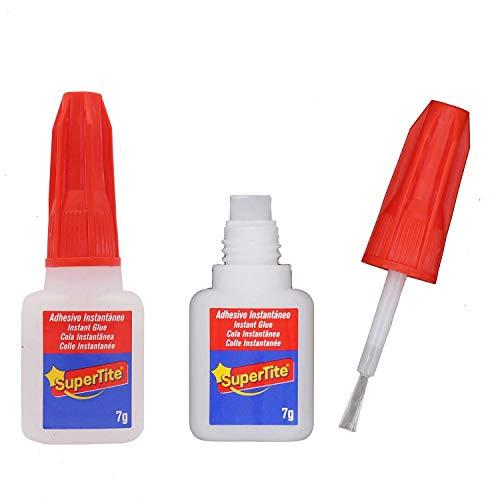 Pack 2 Super glue pegamento adhesivo instantáneo con Pincel 7g (2x7g Pincel)