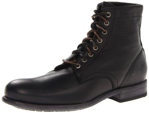 Frye mens Tyler Lace Up Boot, Black 1 - 86070, 10.5 US