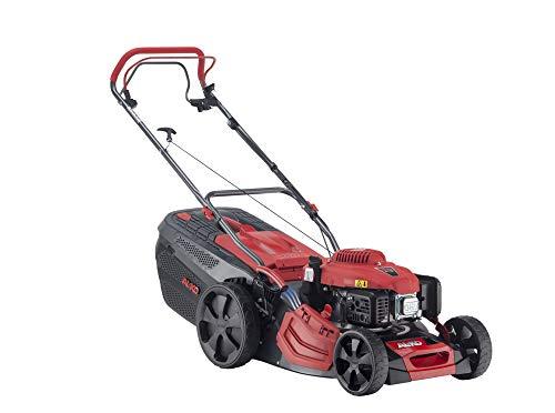 AL-KO Benzin-Rasenmäher Premium 470 SP-A, 46 cm Schnittbreite, 2.6 kW Motorleistung, robustes Stahlblechgehäuse, Hinterradantrieb, Mulchfunktion, Seitenauswurf