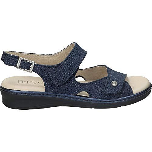 Sandalia con Cierre de Velcro y Plantilla Extraible Tira al talón con Cierre de Hebilla (Azul, Numeric_35)