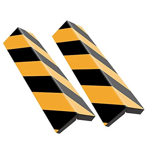 Rovtop 2 Unidades 40*15 Paragolpes Protector para la Puerta de Coche Columnas Parking Protector Puerta Garaje Esquina Parking Adhesivo,Amarillo+Negro