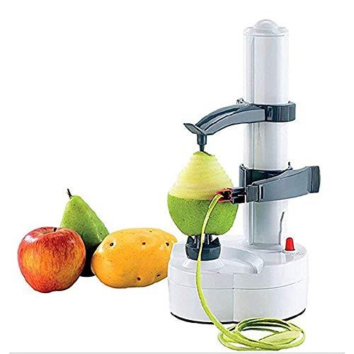 XWSD Pelador de Frutas eléctrico de Acero Inoxidable, multifunción giratoria automática, para pelar Manzanas, Peras, Papas, etc, con batería, no Incluido