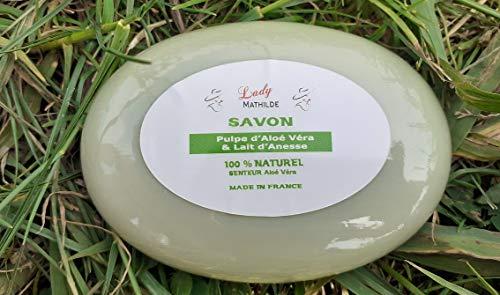 Savon double face au Lait d'ânesse et Aloe Vera, 100% naturel, 100 g