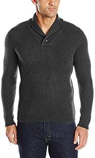 Williams Cashmere Mens SCM188-AM 100% Rib Shawl Collar Pullover Sweater