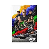 Filmposter Fast And Furious 9 (3) Leinwand-Kunst-Poster und