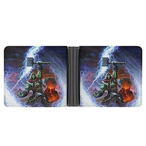 Las carteras de World Warcraft Thrall para hombre son exquisitas y de gama alta, multifuncionales, elegantes regalos para novios y padres