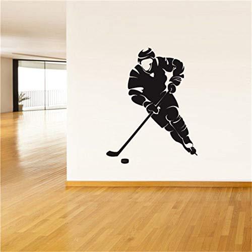 Huaden 5pcs Fototapete Vinyl-Aufkleber Hockey Player Washer Gate Spiel Hockey-Stick.