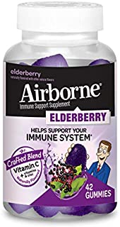 AIRBORNE Gummies - Elderberry 42ct 1 ea (Pack of 3)