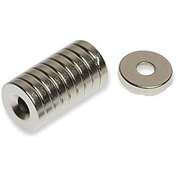 強力磁石 小型 ネオジム ネオジウム マグネット/丸型皿穴付き 10mm×2mm ネジ穴3mm 10個 TEC-NMGD-055