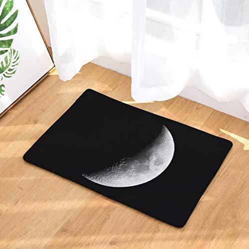 Nunbee Paillasson Impression La Lune Designe Tapis de Sol antidérapant extérieur d'entrée Interieur Fibre de Coco Geek Chat Chouette cerf Multicolore, Lune...