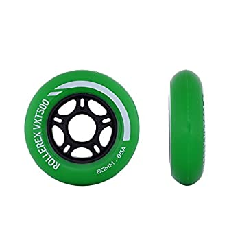 Rollerex VXT500 RipStik Wheels  Multiple Color Options Available   2-Pack   Turf Green   80mm  - Use on RipStiks Inline Skates Roller Blades