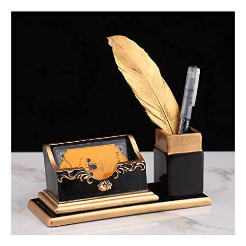 Cajas para tarjetas de visita Tarjetero de escritorio, tarjeta de la caja de almacenamiento titular de la pluma titular de la tarjeta de visita de la decoración de personalización Caso de la tarjeta d