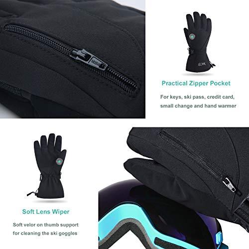 MCTi Skihandschuhe Herren Extrem Warme Wasserdicht Winterhandschuhe Snowboard Fahrrad Skifahren Handschuhe Thinsulate Winddicht - 5