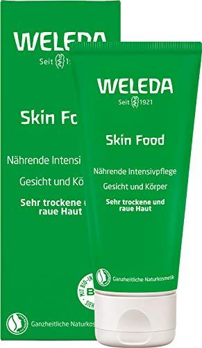 WELEDA Hautcreme Skin Food, reichhaltige Naturkosmetik Körpercreme zur Pflege von rauer, trockener und spröder Haut an Füßen, Händen und Ellenbogen (1 x 75 ml)