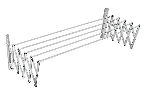Sauvic Tendedero Extensible, Aluminio, Plateado, 80x78x26.5 cm